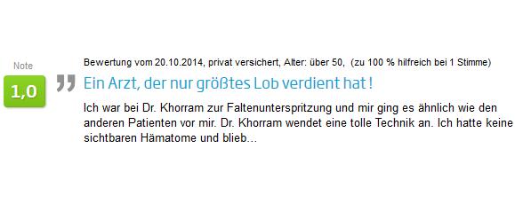 Erfahrungsbericht Faltenunterspritzung mit Hyaluronsäure in Stuttgart